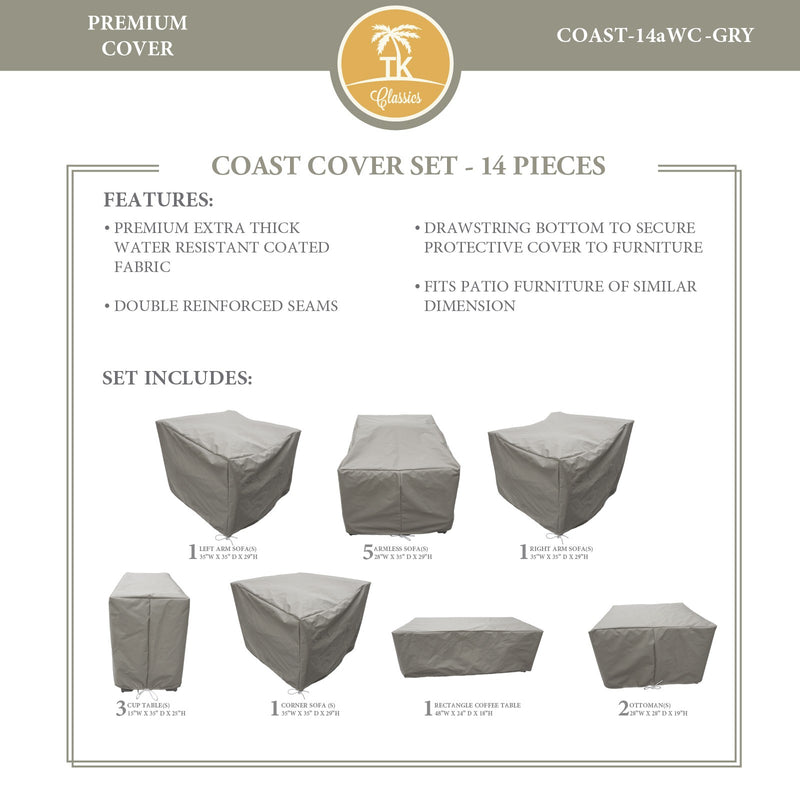COAST-14a Protective Cover Set, in Grey
