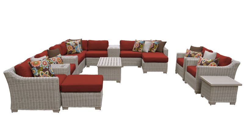 Coast 17 Piece Outdoor Wicker Patio Furniture Set 17a