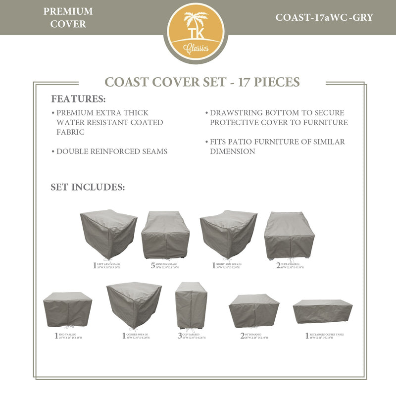 COAST-17a Protective Cover Set, in Grey