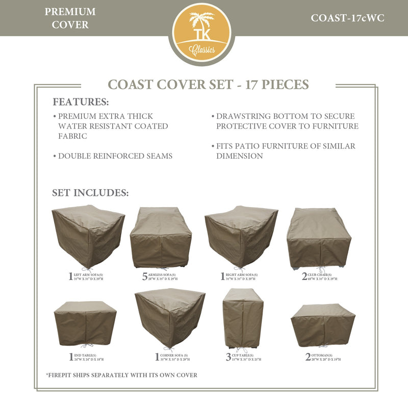 COAST-17c Protective Cover Set, in Beige