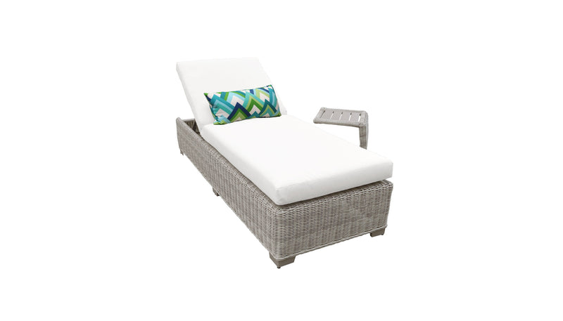 Coast Chaise Outdoor Wicker Patio Furniture With Side Table