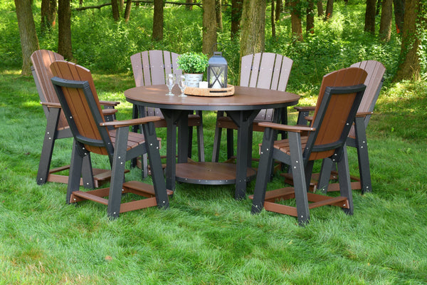 7 Piece Set with 60 inch Round Pub Table and 6 Balcony Chairs by Wildridge