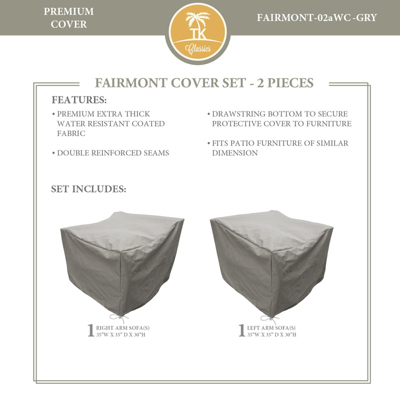FAIRMONT-02a Protective Cover Set, in Grey