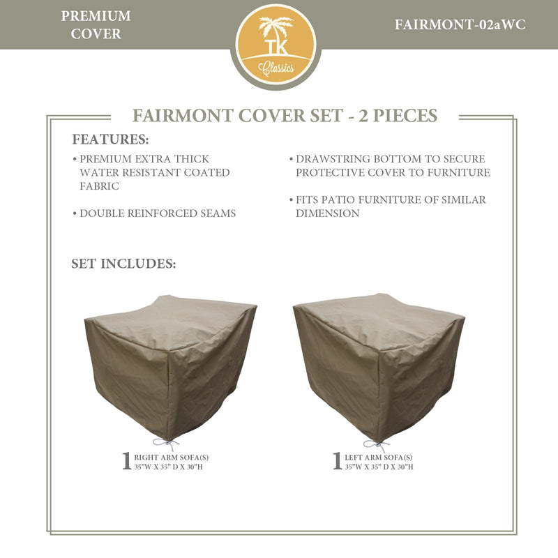 FAIRMONT-02a Protective Cover Set, in Beige