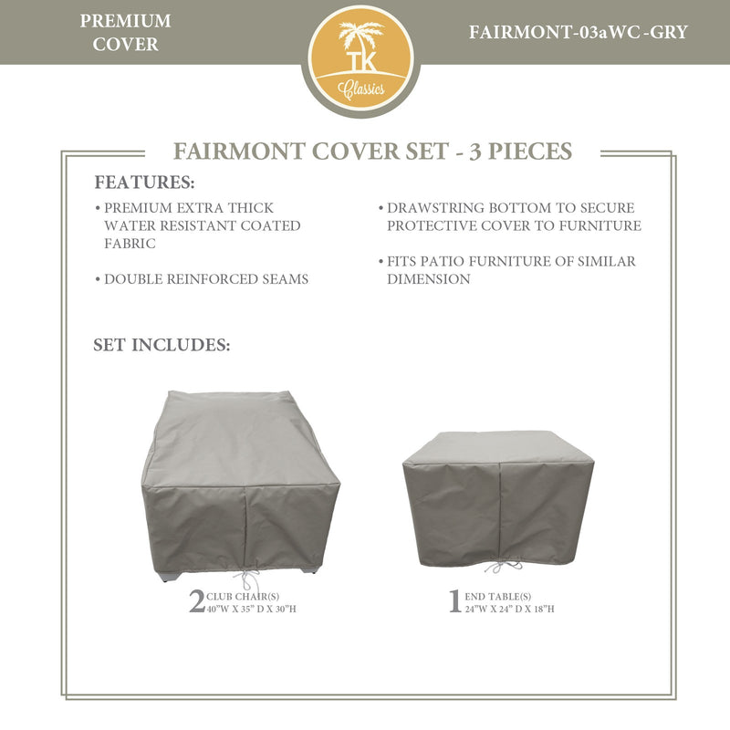 FAIRMONT-03a Protective Cover Set, in Grey