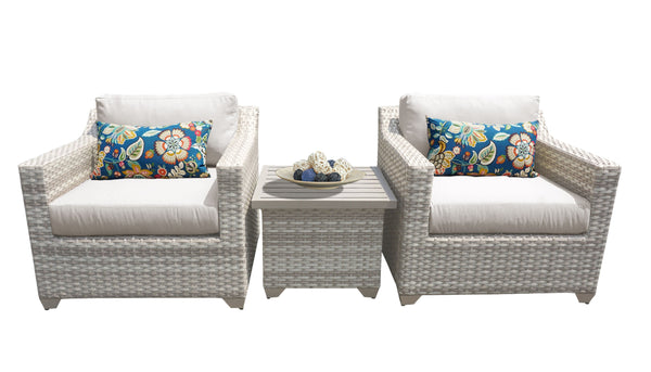 Fairmont 3 Piece Outdoor Wicker Patio Furniture Set 03a