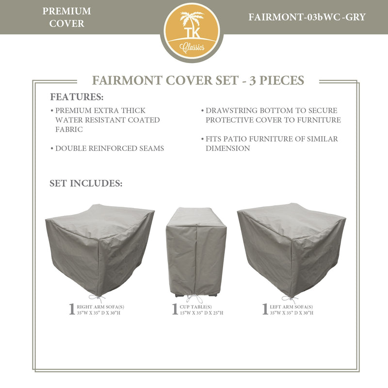 FAIRMONT-03b Protective Cover Set, in Grey