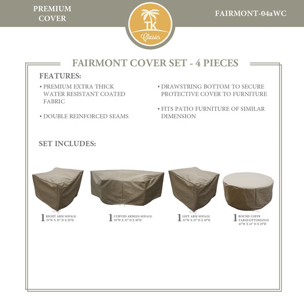 FAIRMONT-04a Protective Cover Set, in Beige