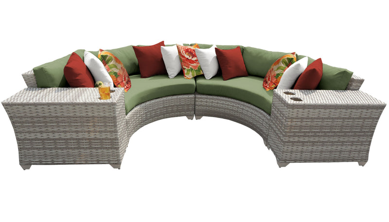 Fairmont 4 Piece Outdoor Wicker Patio Furniture Set 04c