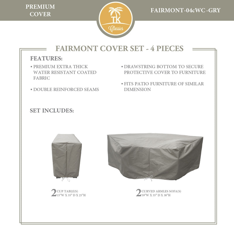 FAIRMONT-04c Protective Cover Set, in Grey