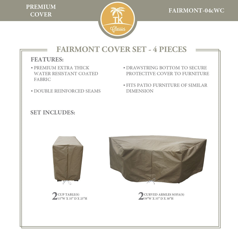 FAIRMONT-04c Protective Cover Set, in Beige