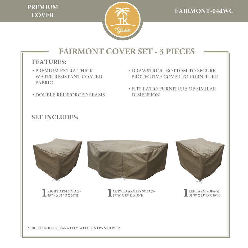 FAIRMONT-04d Protective Cover Set, in Beige