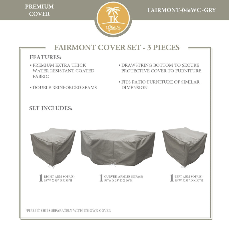 FAIRMONT-04e Protective Cover Set, in Grey