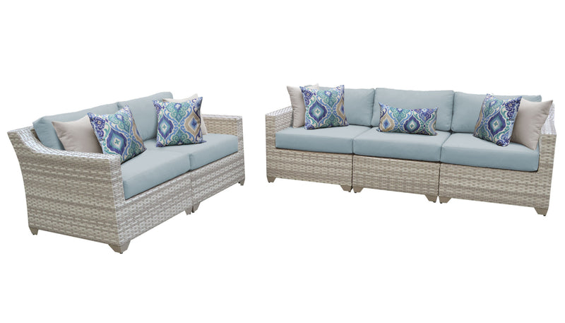 Fairmont 5 Piece Outdoor Wicker Patio Furniture Set 05a