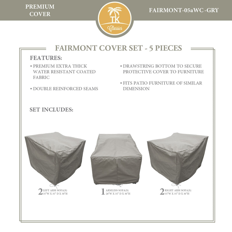 FAIRMONT-05a Protective Cover Set, in Grey