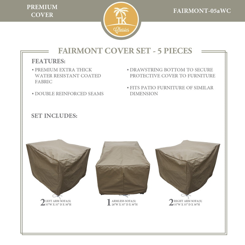 FAIRMONT-05a Protective Cover Set, in Beige