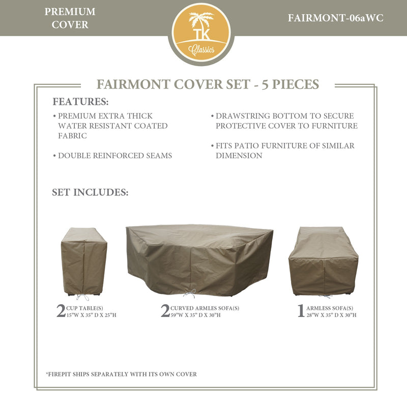 FAIRMONT-06a Protective Cover Set, in Beige