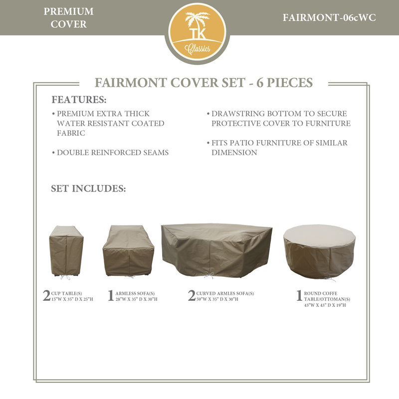 FAIRMONT-06c Protective Cover Set, in Beige