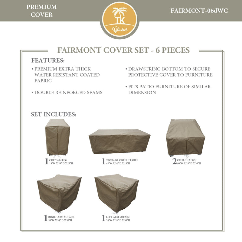 FAIRMONT-06d Protective Cover Set, in Beige