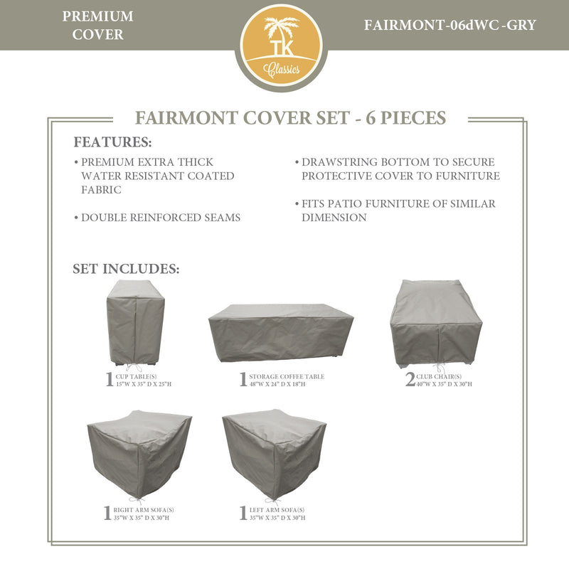 FAIRMONT-06d Protective Cover Set, in Grey