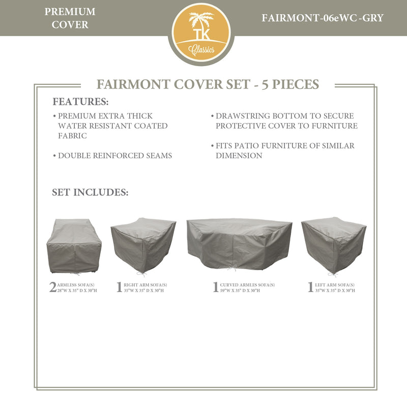 FAIRMONT-06e Protective Cover Set, in Grey