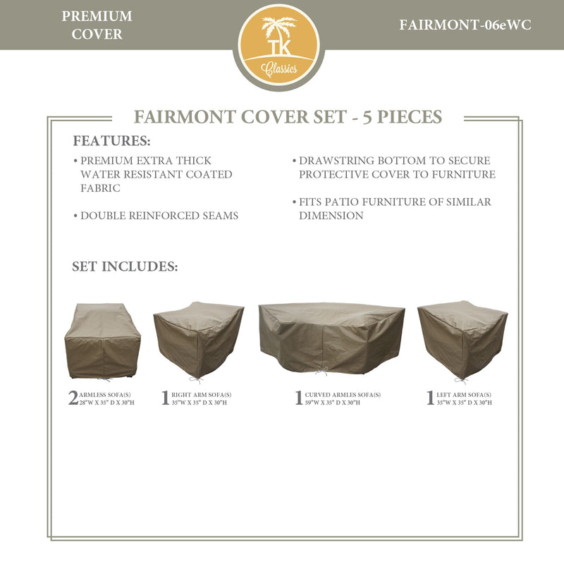 FAIRMONT-06e Protective Cover Set, in Beige