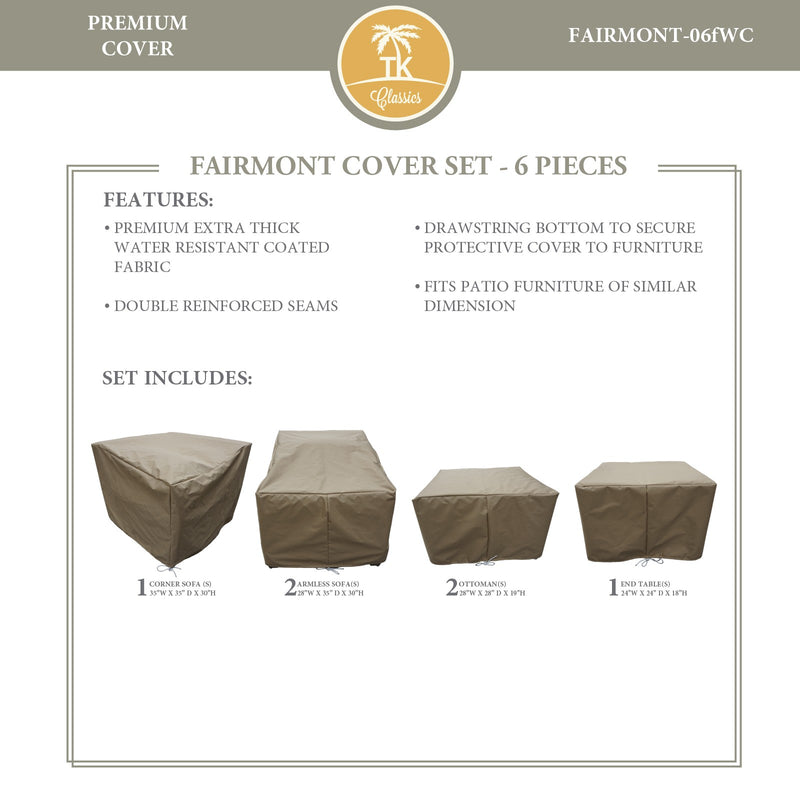 FAIRMONT-06f Protective Cover Set, in Beige