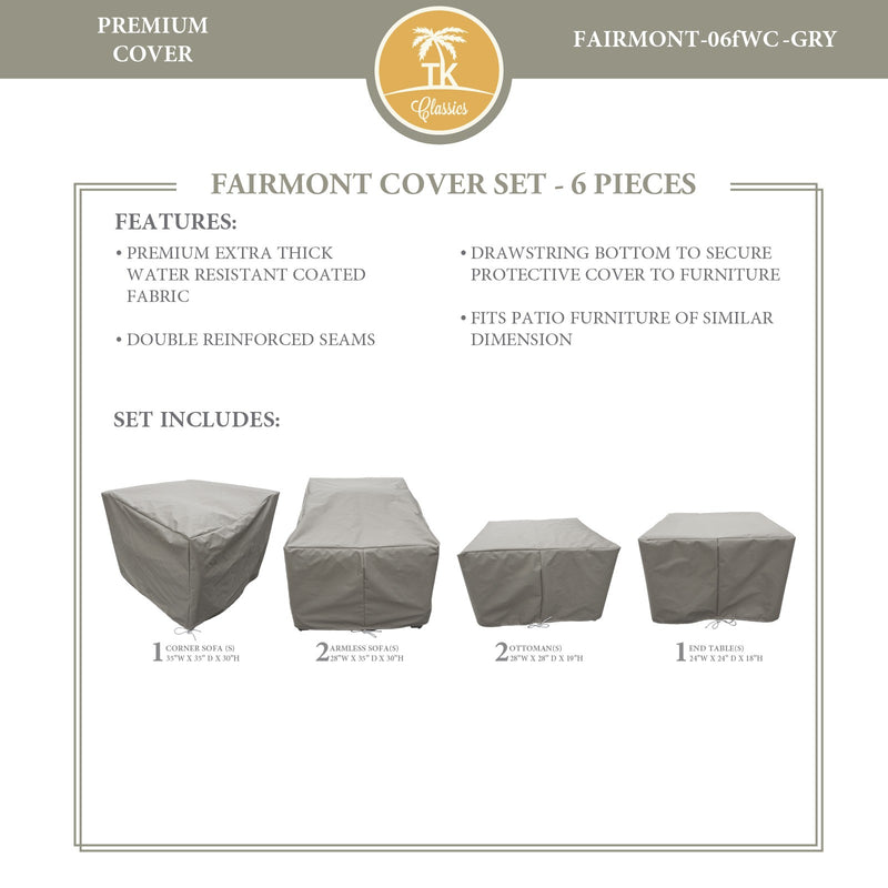 FAIRMONT-06f Protective Cover Set, in Grey