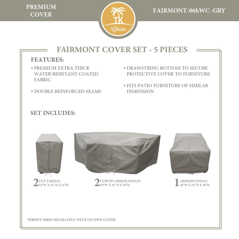 FAIRMONT-06h Protective Cover Set, in Grey