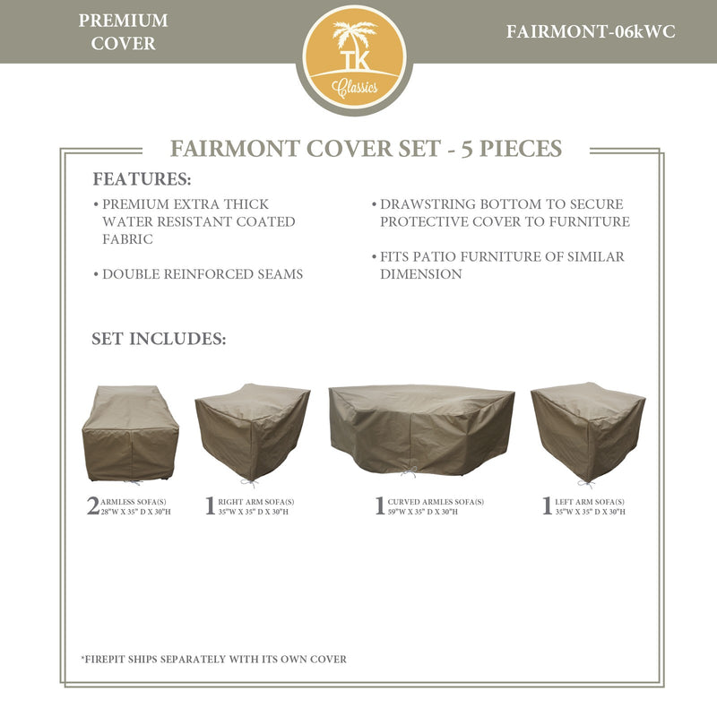 FAIRMONT-06k Protective Cover Set, in Beige