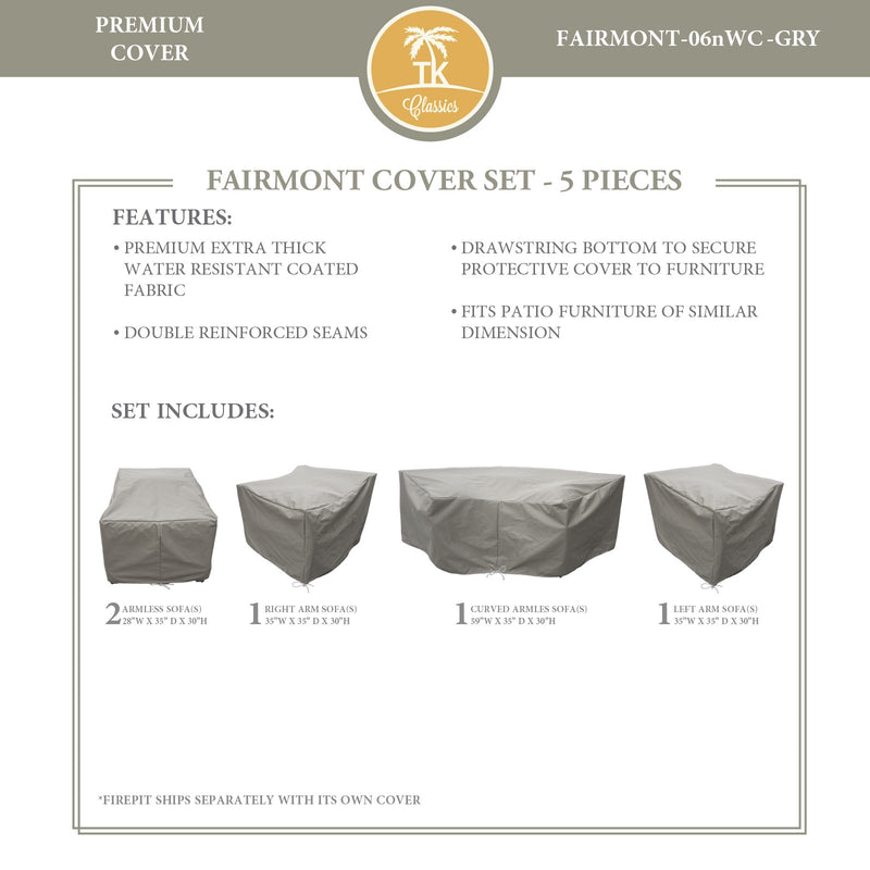 FAIRMONT-06n Protective Cover Set, in Grey
