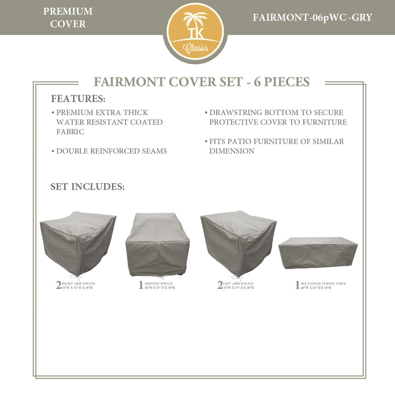FAIRMONT-06p Protective Cover Set, in Grey