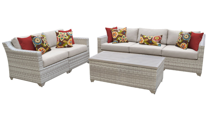 Fairmont 6 Piece Outdoor Wicker Patio Furniture Set 06p