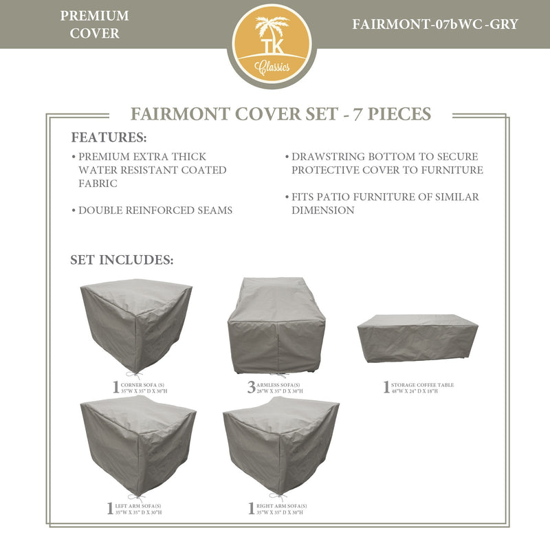 FAIRMONT-07b Protective Cover Set, in Grey