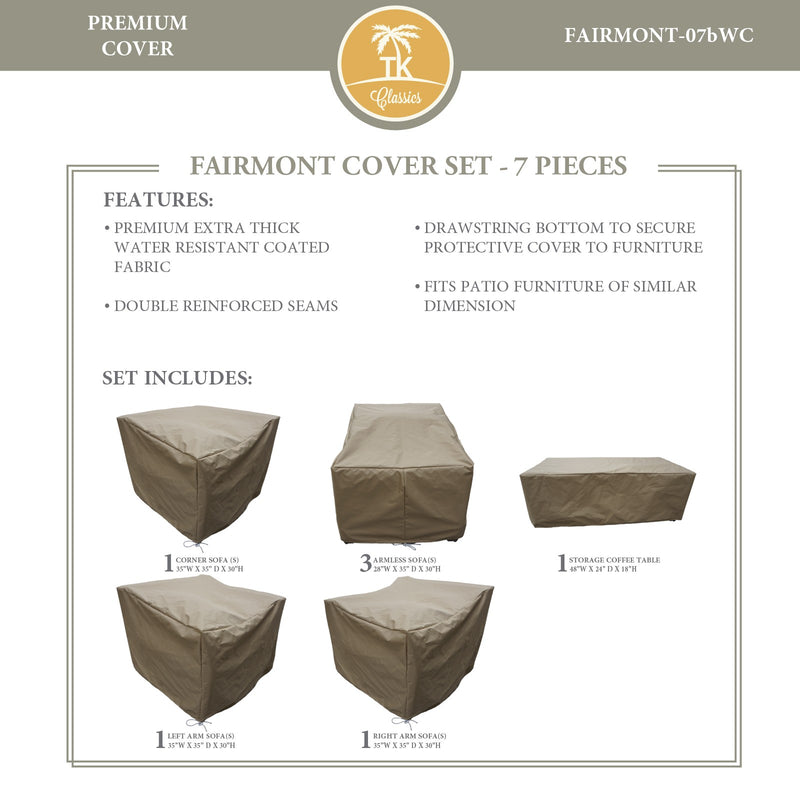 FAIRMONT-07b Protective Cover Set, in Beige