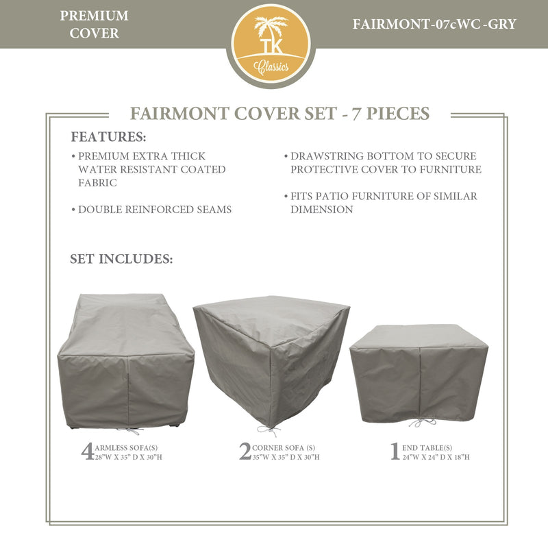 FAIRMONT-07c Protective Cover Set, in Grey