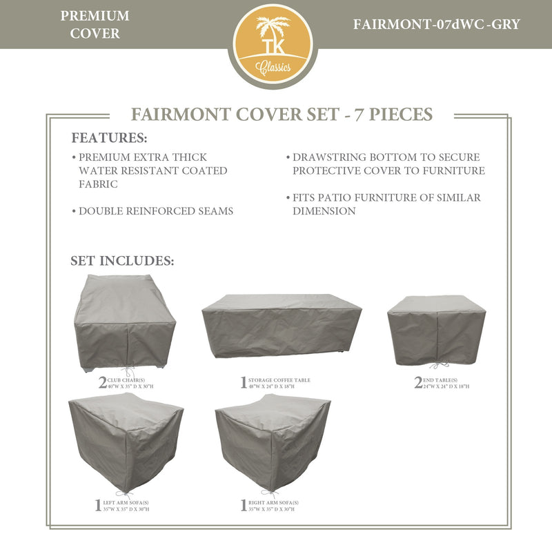 FAIRMONT-07d Protective Cover Set, in Grey