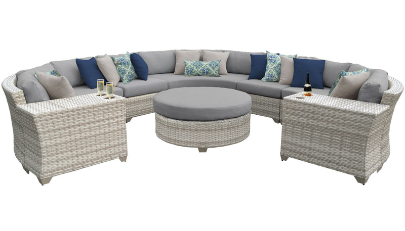 Fairmont 8 Piece Outdoor Wicker Patio Furniture Set 08b