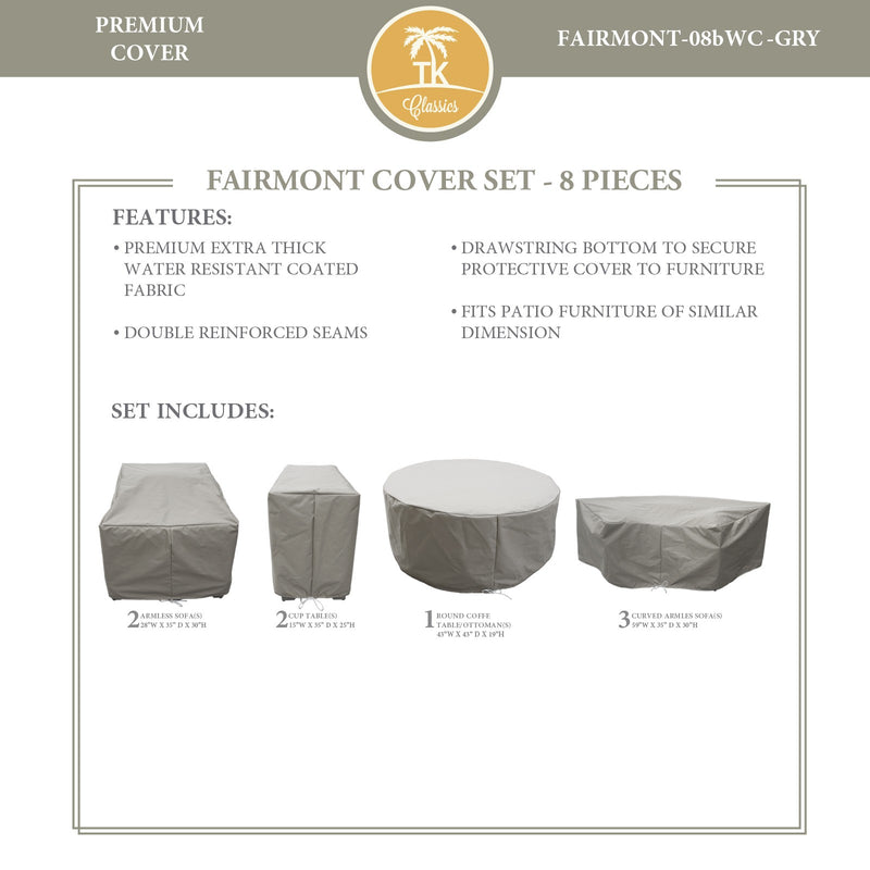FAIRMONT-08b Protective Cover Set, in Grey