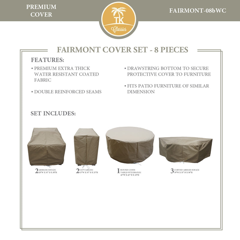 FAIRMONT-08b Protective Cover Set, in Beige