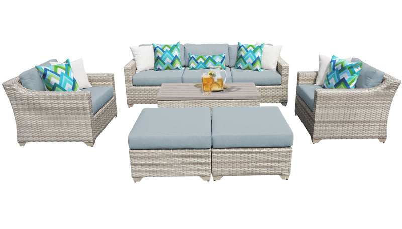 Fairmont 8 Piece Outdoor Wicker Patio Furniture Set 08c