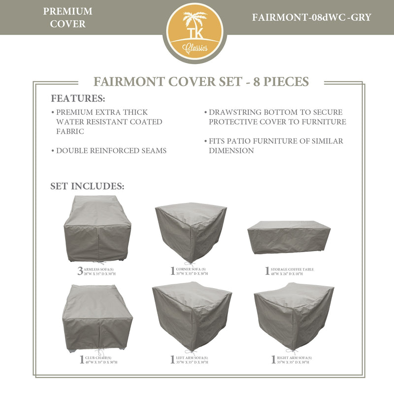FAIRMONT-08d Protective Cover Set, in Grey