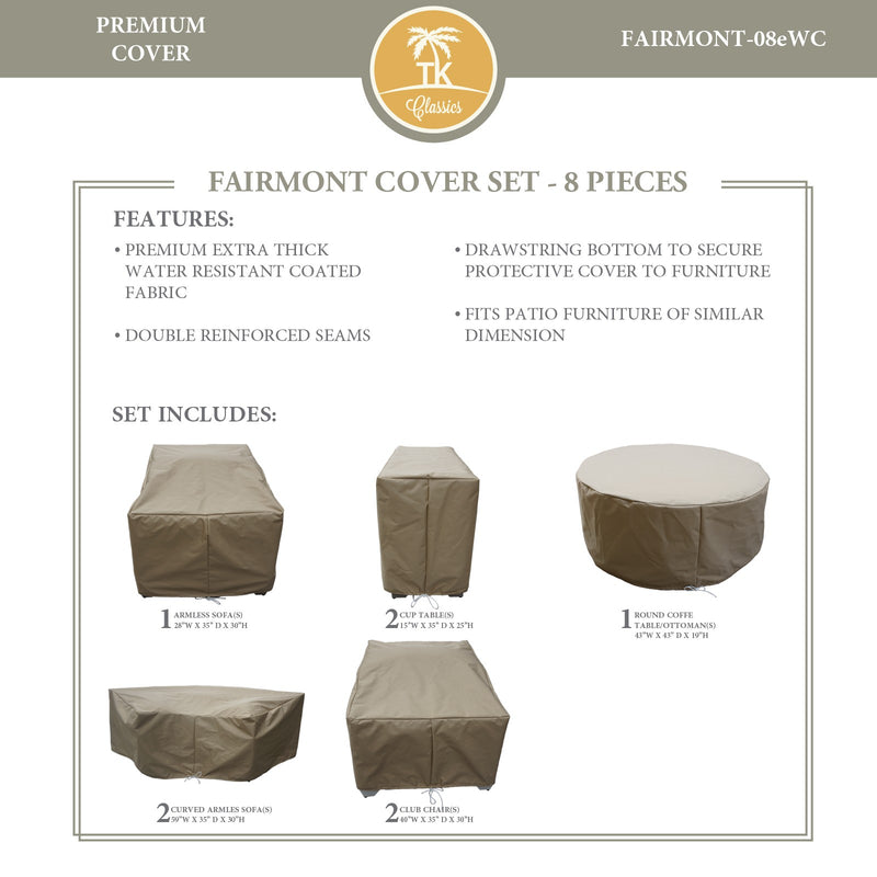 FAIRMONT-08e Protective Cover Set, in Beige