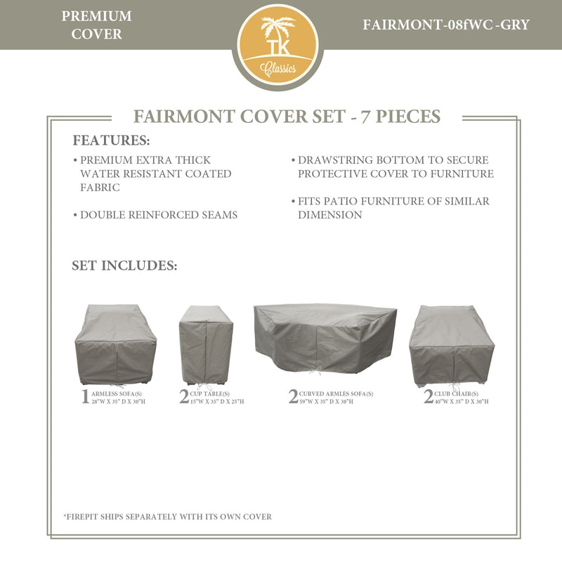 FAIRMONT-08f Protective Cover Set, in Grey