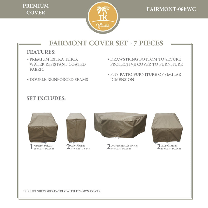 FAIRMONT-08h Protective Cover Set, in Beige