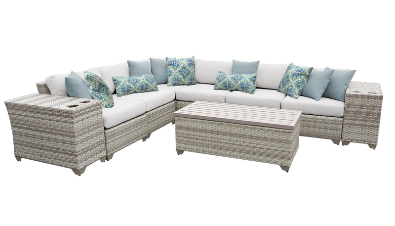 Fairmont 9 Piece Outdoor Wicker Patio Furniture Set 09b