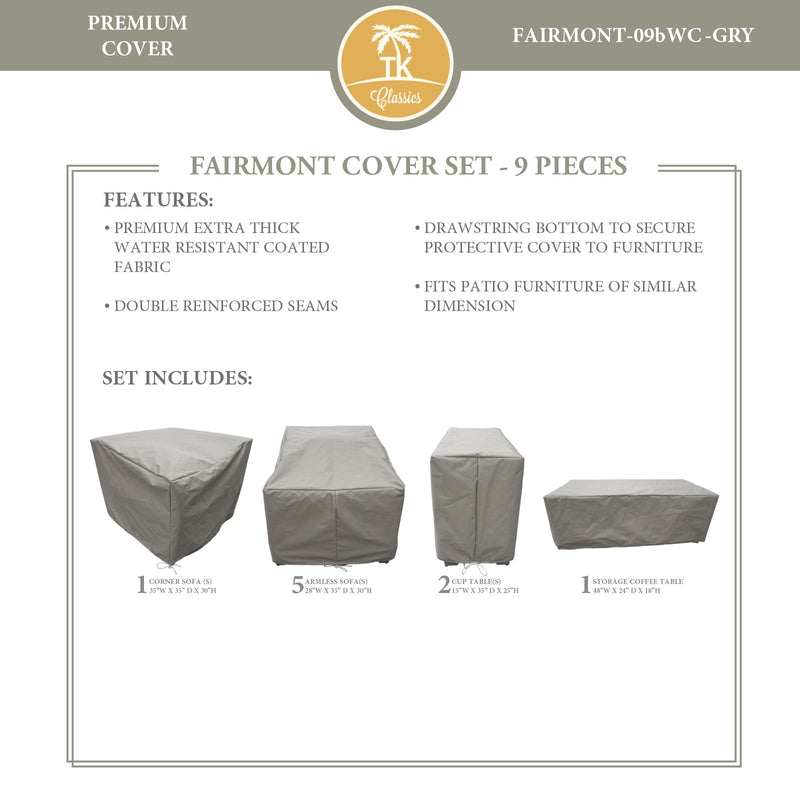 FAIRMONT-09b Protective Cover Set, in Grey