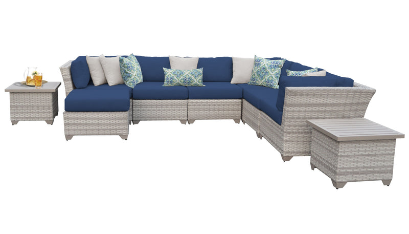 Fairmont 9 Piece Outdoor Wicker Patio Furniture Set 09c