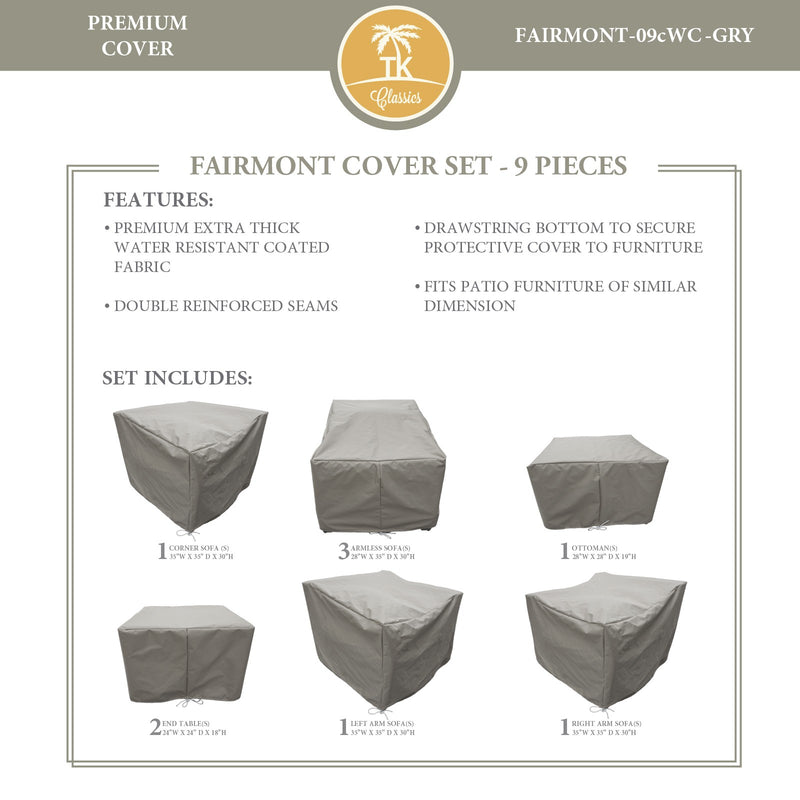 FAIRMONT-09c Protective Cover Set, in Grey