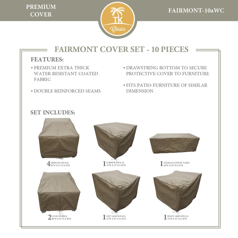 FAIRMONT-10a Protective Cover Set, in Beige